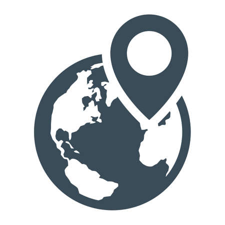 global positioning system icon Illustration