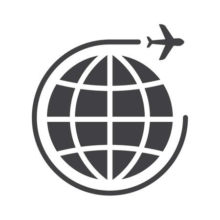 globe with traveling concept icon Иллюстрация