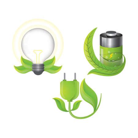set of ecological concepts Ilustrace