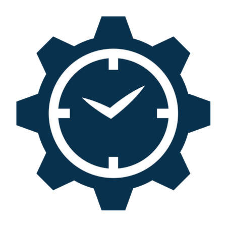 Clock settings icon Stock Vector - 77246114