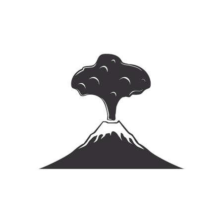 Volcanic eruption Ilustração