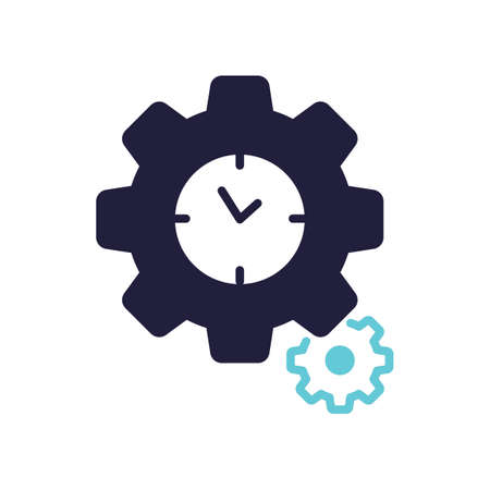 Clock settings icon Stock Vector - 77246140