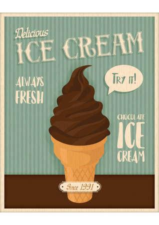 Ice cream theme design Illustration