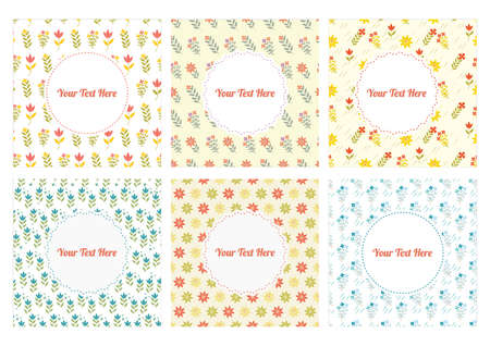 Collection of floral background designs