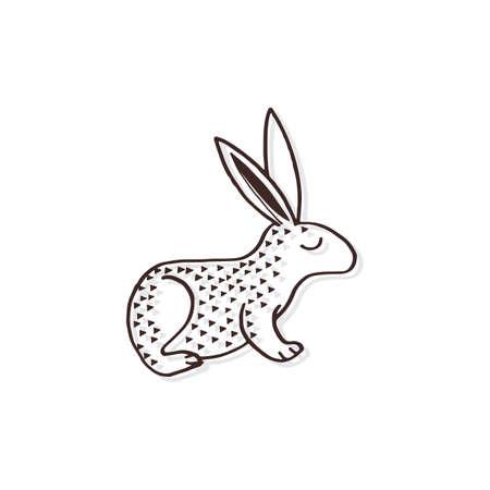 シンプルなウサギのデザイン  イラスト・ベクター素材