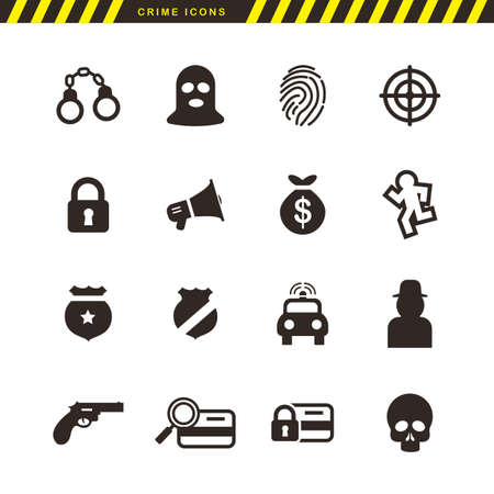 basic law: collection of crime icons
