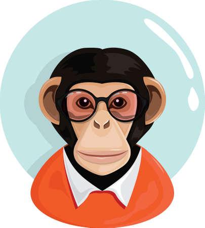 Aap karakter Stock Illustratie