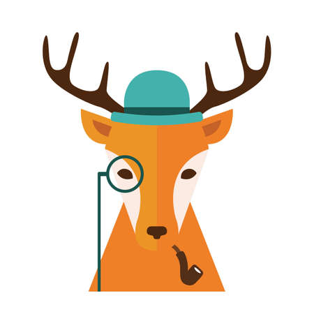 Fashionable deer