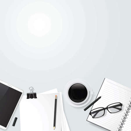 Minimalist table workspace Illustration