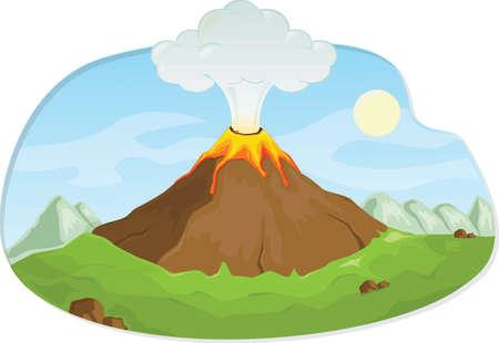 火山噴火 写真素材 - 77247483