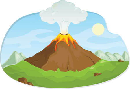 Volcanic eruption Ilustrace