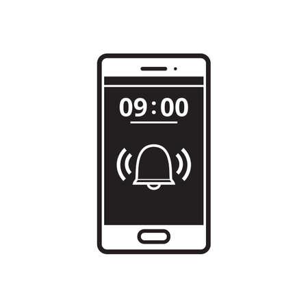 Phone alarm icon Illustration