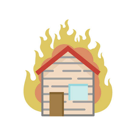 House on fire Фото со стока - 77247752