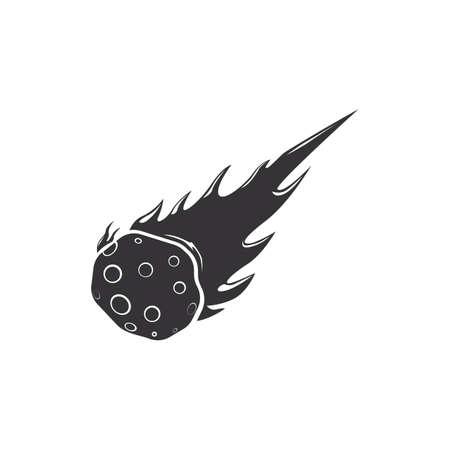 Falling meteorite Illustration