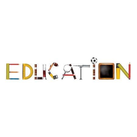 Education text design