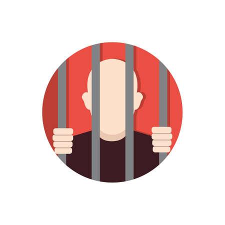 Man in de gevangenis Stock Illustratie
