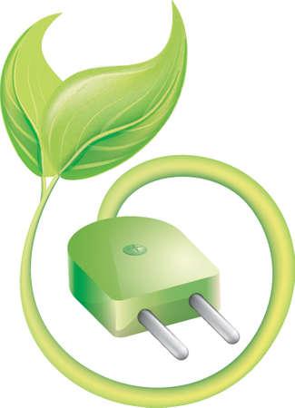 녹색 컨셉 디자인으로 이동 일러스트
