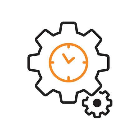 clock settings icon Illustration
