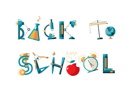 Back to school text design