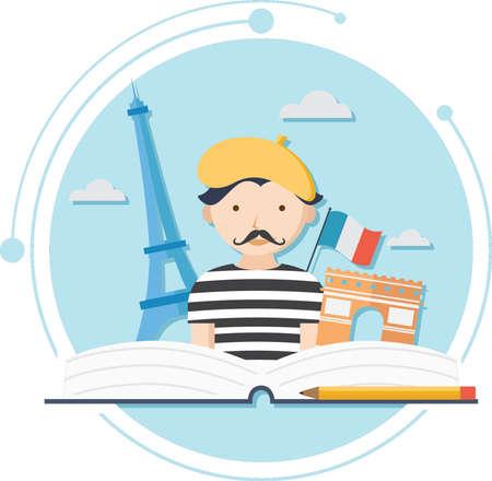 Frans taalconcept Stock Illustratie