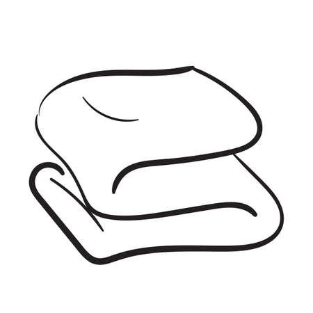 Folded towel