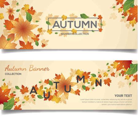 Autumn banner design