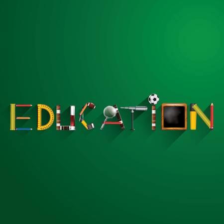 Onderwijs tekstontwerp Stock Illustratie