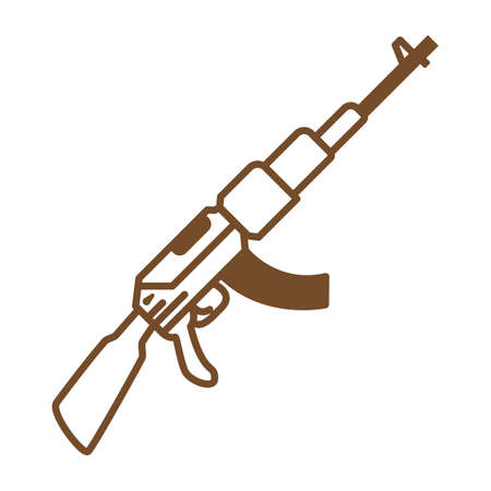 Automatic rifle Illustration