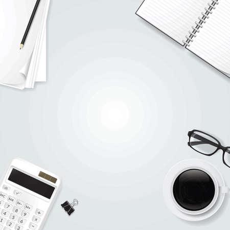 Minimalist table workspace Illustration