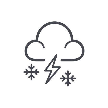 snowstorm concept Ilustração