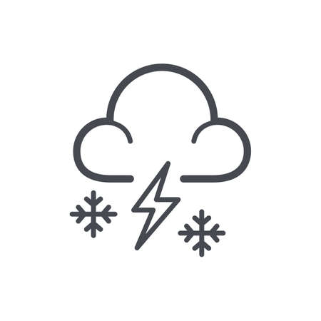 snowstorm concept Illustration