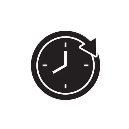 Clock with arrow icon Ilustração