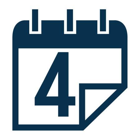 Calendar icon Illusztráció