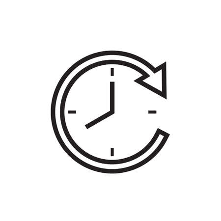 Clock with arrow icon Иллюстрация