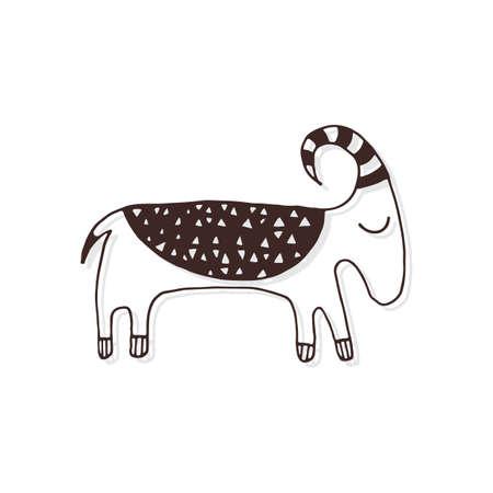 Simple goat design Banco de Imagens - 77252189