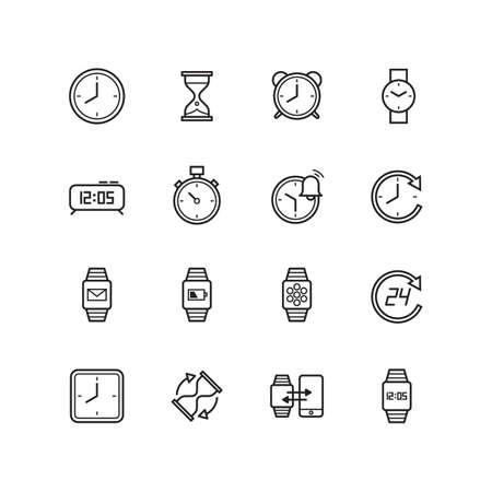 時間のアイコンのセット