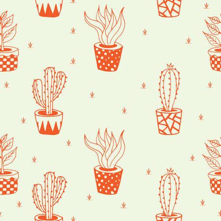 Cactus achtergrond ontwerp