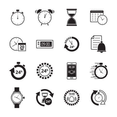 Collection of time icon