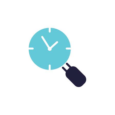 Clock search icon