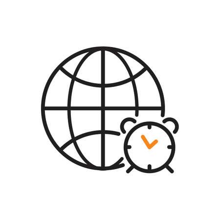 World clock icon Illustration
