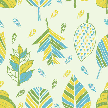 leaves background design Иллюстрация
