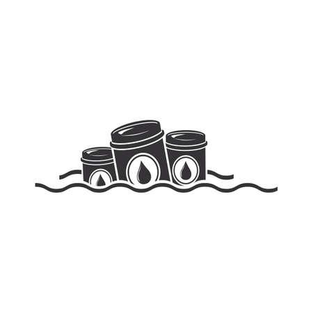 Toxic waste in the sea Ilustração