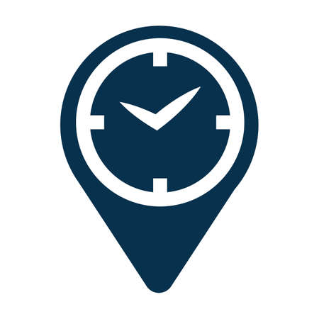 Travel time icon Фото со стока - 77253318