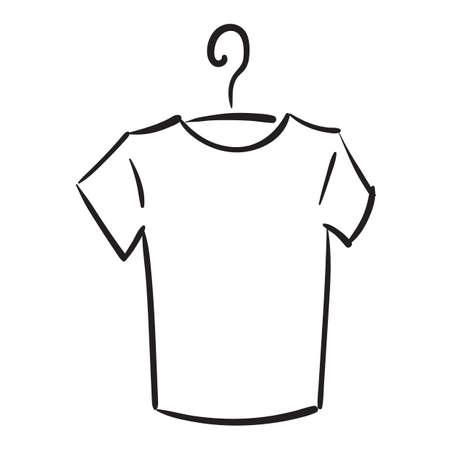 Clean shirt on hanger