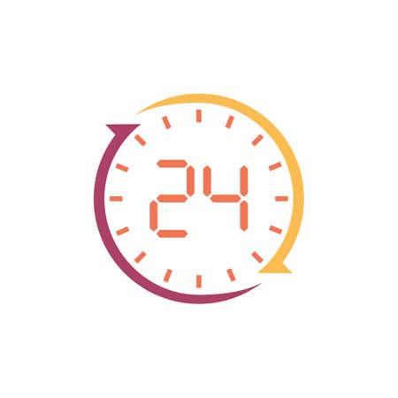 24 hours clock icon Ilustrace