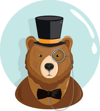 Bear character Иллюстрация