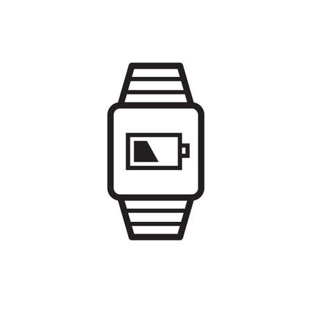 Smartwatch with battery level Stock Vector - 77253754