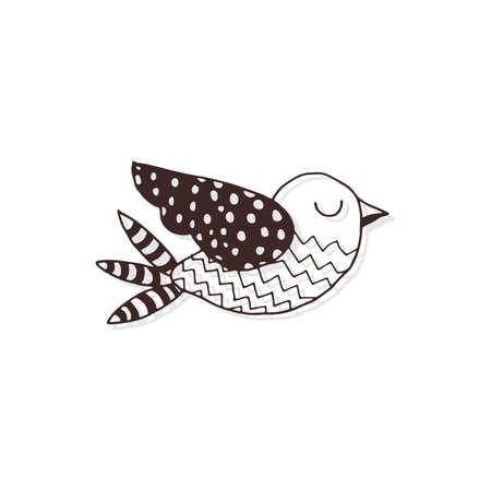 simple bird design Ilustrace