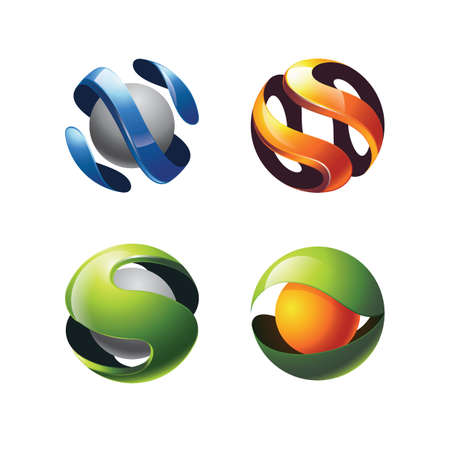 Set of abstract logo element
