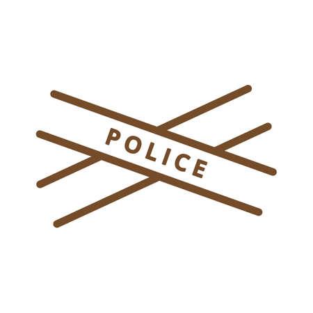 警察のテープ  イラスト・ベクター素材